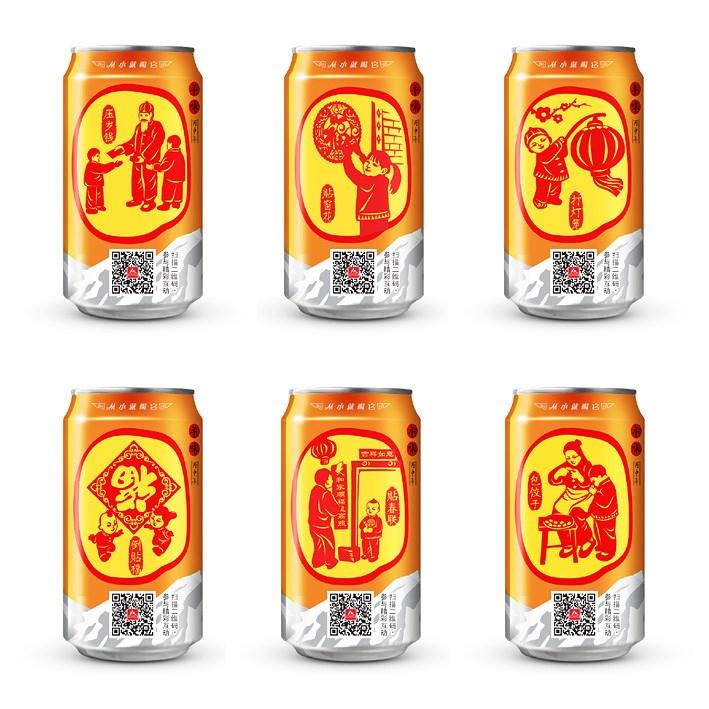 西安冰峰年味系列春节促销包装设计