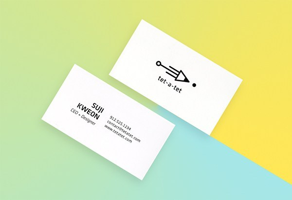 tet-a-tet文具品牌名片设计
