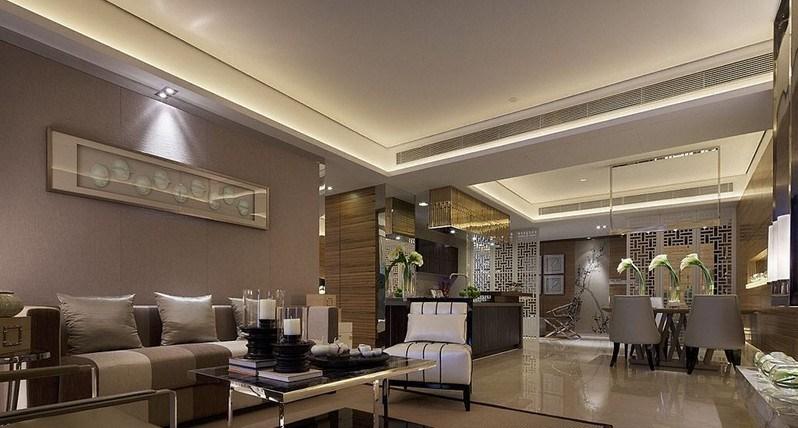 中式客厅装修效果图-中国设计网