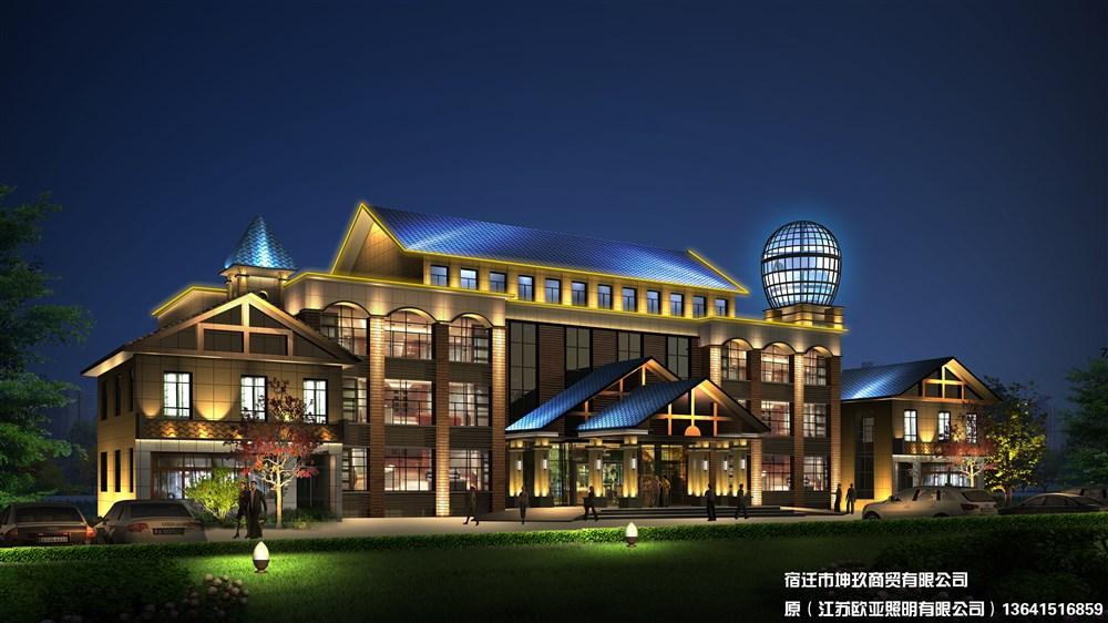 主要是照明设计工程的设计方案效果,建筑