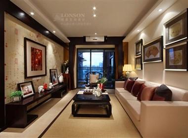 中山海伦春天中式风格样板房设计