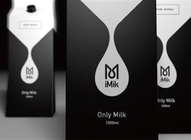 imik黑白牛奶包装设计