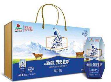 红创意allcool西部牧业3.6纯牛奶包装设计