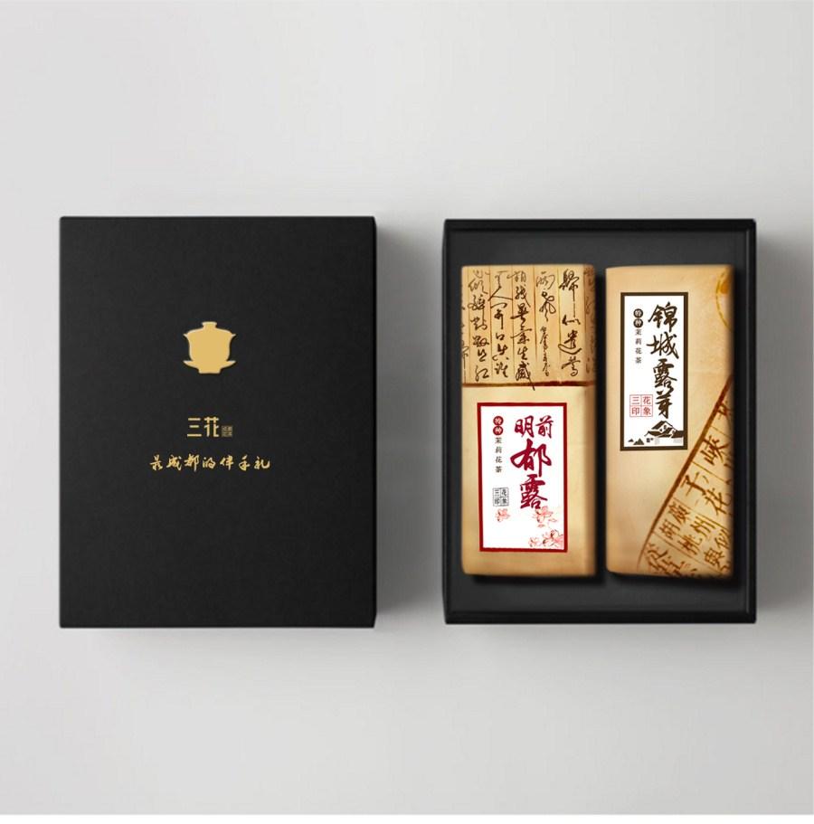 中国风复古茶叶包装-中国设计网