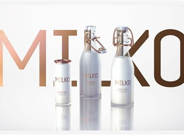 成都摩品品牌形象包装设计-MILKO-Super-premium Dairy Products乳制品牛奶瓶设计欣赏分享