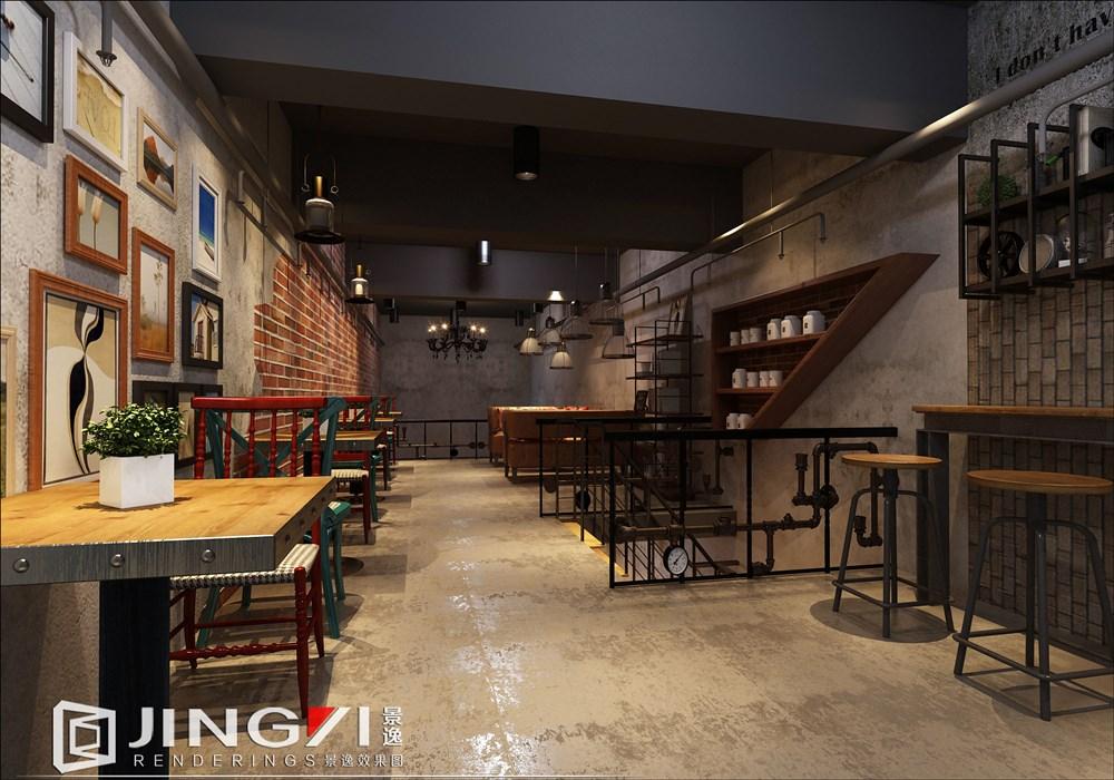 景逸效果图设计—打造工装主题理想餐饮区