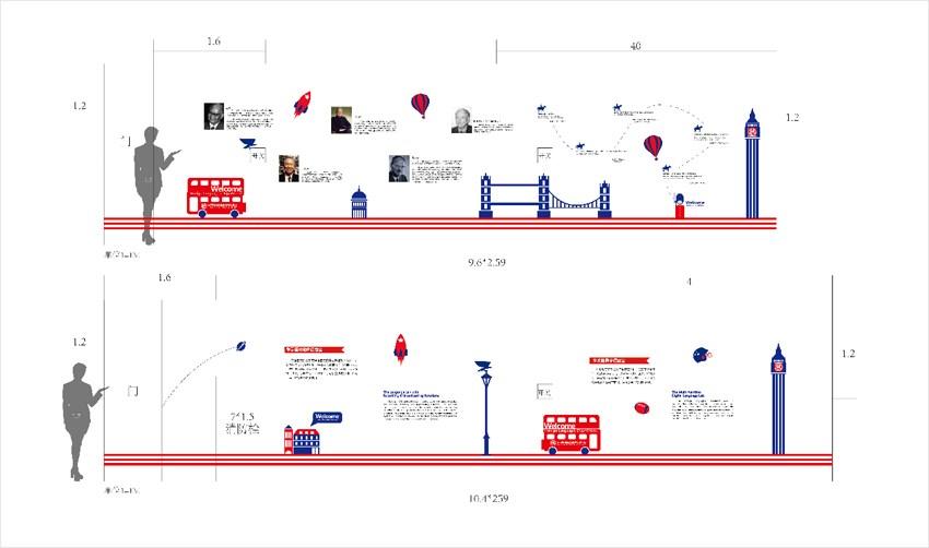 校园文化走廊设计 企业文化墙设计 店面形象设