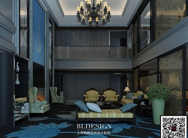 郑州别墅设计公司分享奢华典雅的欧式复式别墅样板房设计效果图