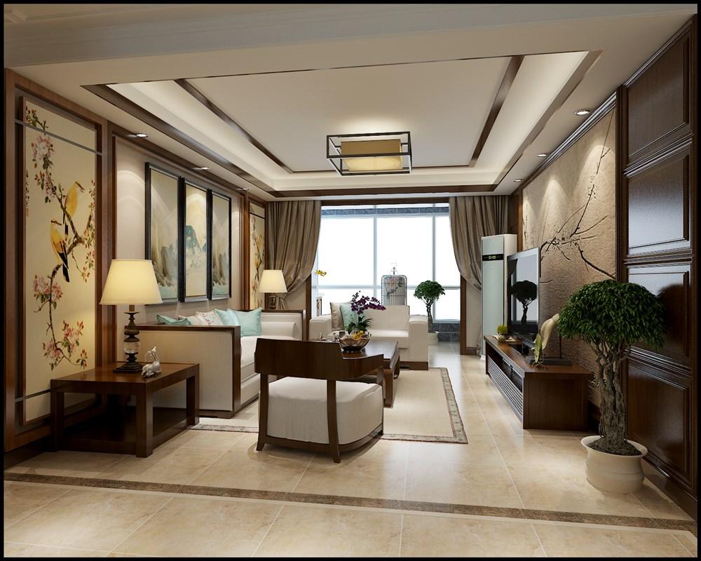 【奥北公元装修】奥北公元140平三室两厅中式风格装修