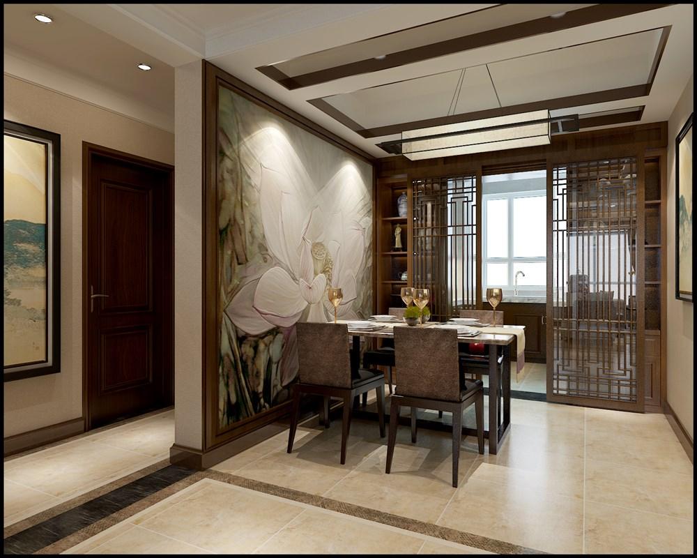 140平三室两厅中式风格装修设计效果图