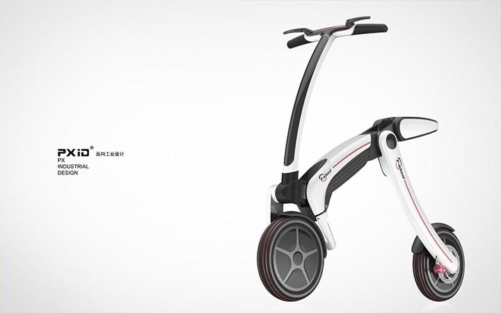 飞轮威尔电动自行车设计 品向代步工具设计 平衡车设计 pxid