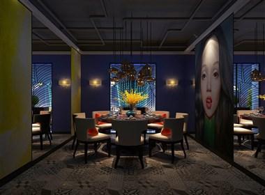 沈阳爱尚虾塘都市文化主题餐厅设计