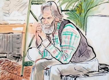 有趣的人物坐姿插画