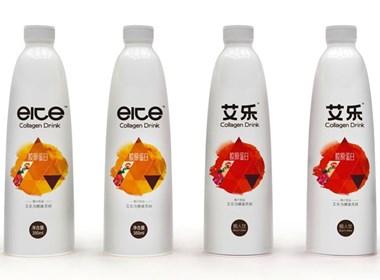 正昱设计 原创瓶型 包装设计 艾乐胶原蛋白饮料  饮料设计