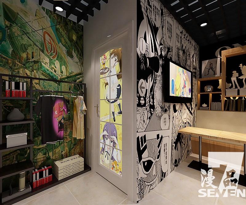 77动漫加盟店室内装修风格展示,漫品动漫奶茶店集合动漫元素和奶茶