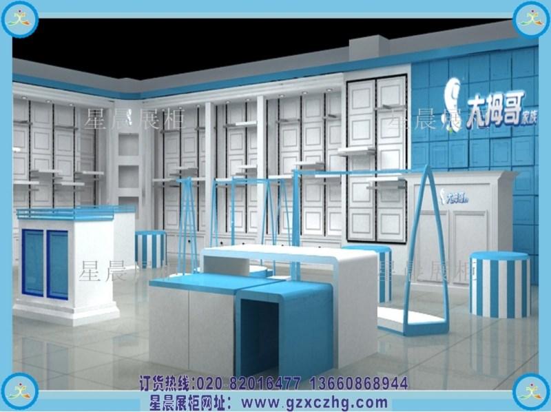 30平方童装店面装修展柜设计图