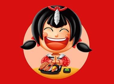 广州羽寿司品牌吉祥物设计