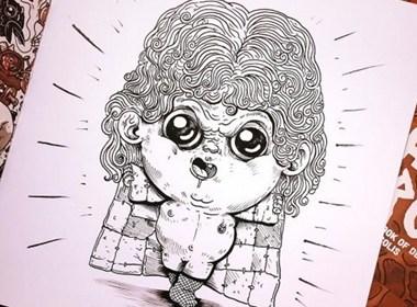 Alex Solis 系列作品「Baby Terrors」Ⅱ绘画欣赏