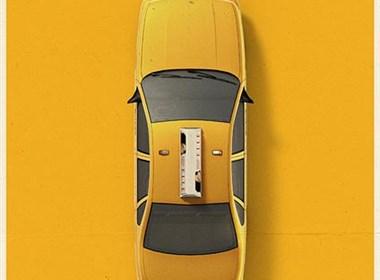 城市海报:不同城市的出租车风格