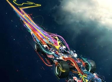 超酷的赛车海报设计