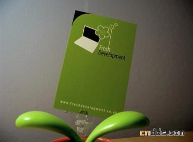 绿色名片设计