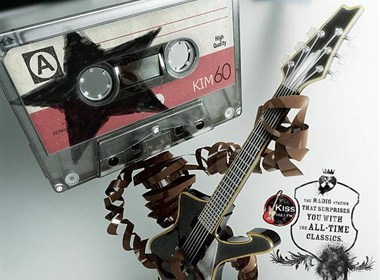 Kiss FM摇滚音乐电台创意海报设计