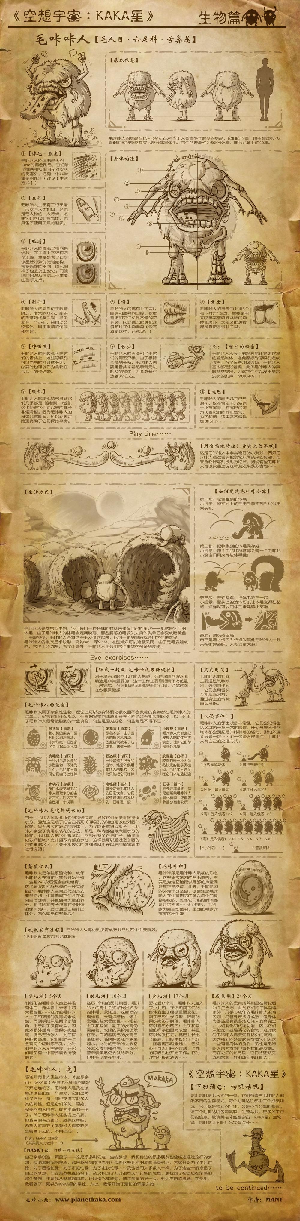 空想宇宙KAKA星:毛咔咔人