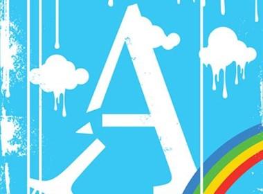 字母A-Z的艺术插图海报设计