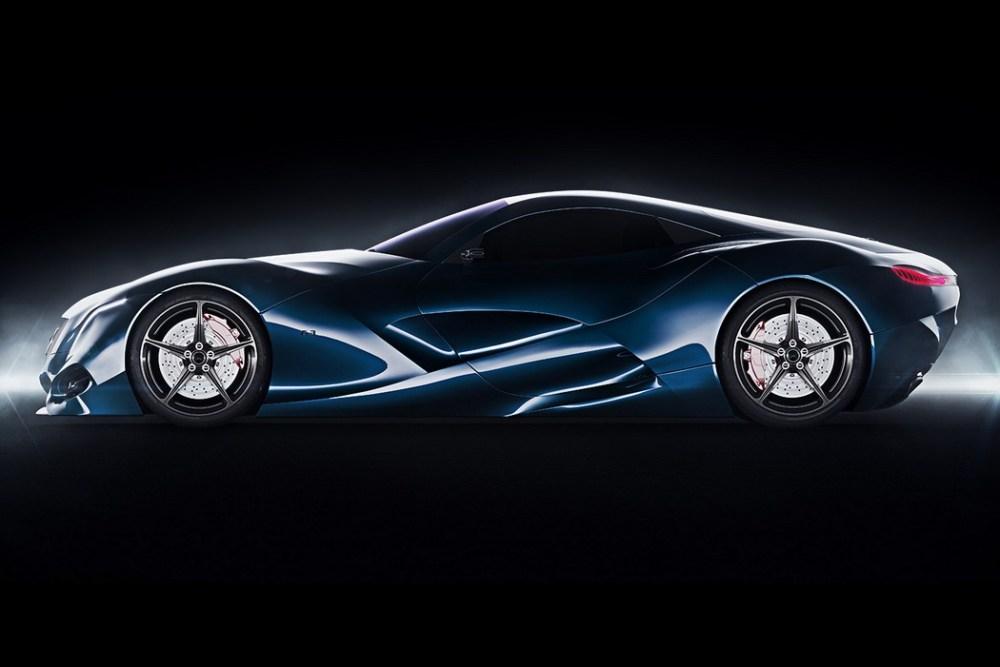 线条流畅的奔驰概念车设计
