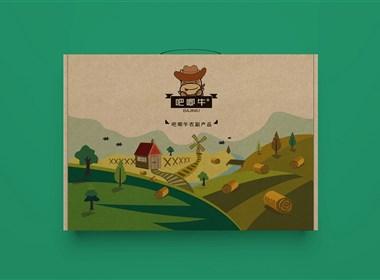 《吧唧牛-农副产品》苹果包装设计