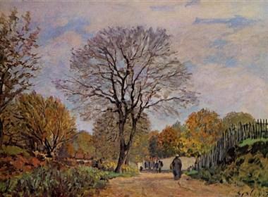 法国画家阿尔弗莱德·西斯莱(Alfred Sisley)风景油画作品