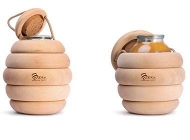 蜂蜜包装设计欣赏----把蜂巢搬进人们的生活中