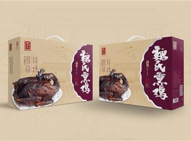 《魏老六·魏氏熏鸡》熏鸡包装设计