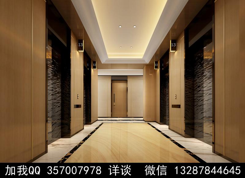電梯間設計案例效果圖