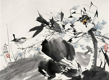 林墉国画花鸟作品