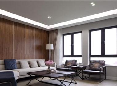 现代风格装修案例:以石为邻,以木为家,返璞归真