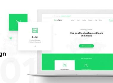 Netguru 页面设计