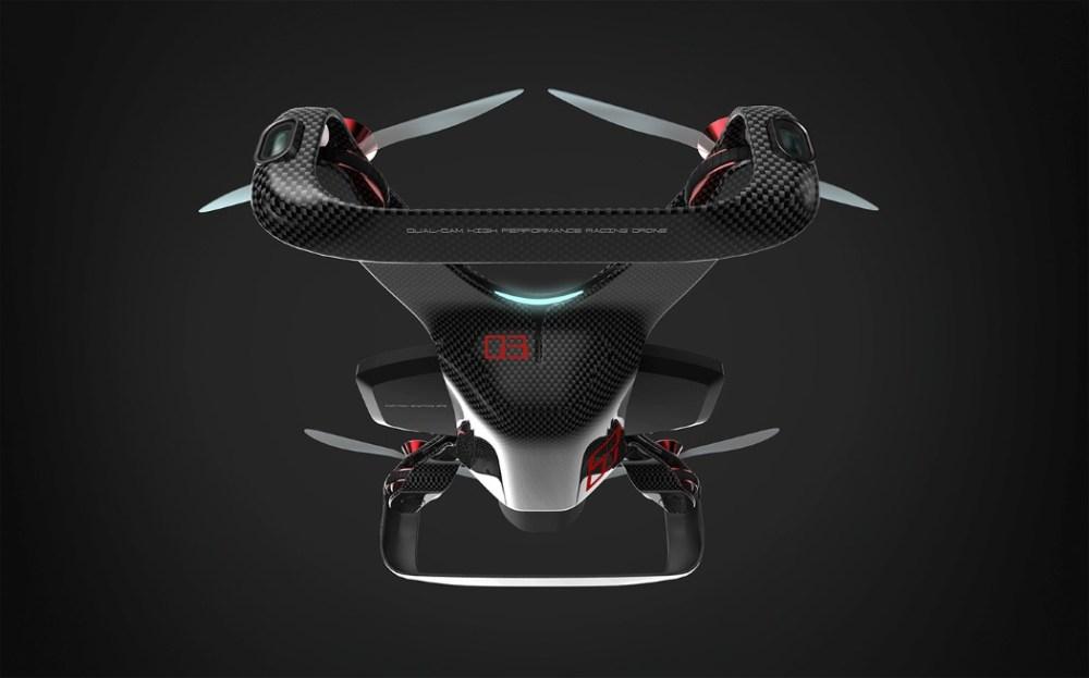 流畅线条的无人机设计