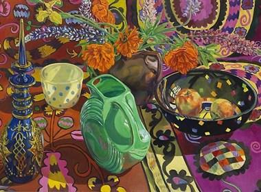美国画家Janet Fish静物绘画