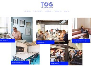 TOG英国智能办公空间企业网站