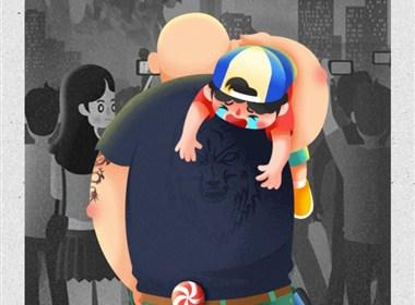 UC公益:寻找走失儿童 手绘插画H5网页