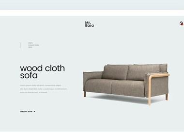 简洁明快的家具类网页设计