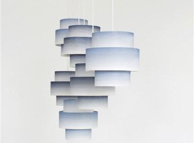 韩纸图案打造而成的灯饰