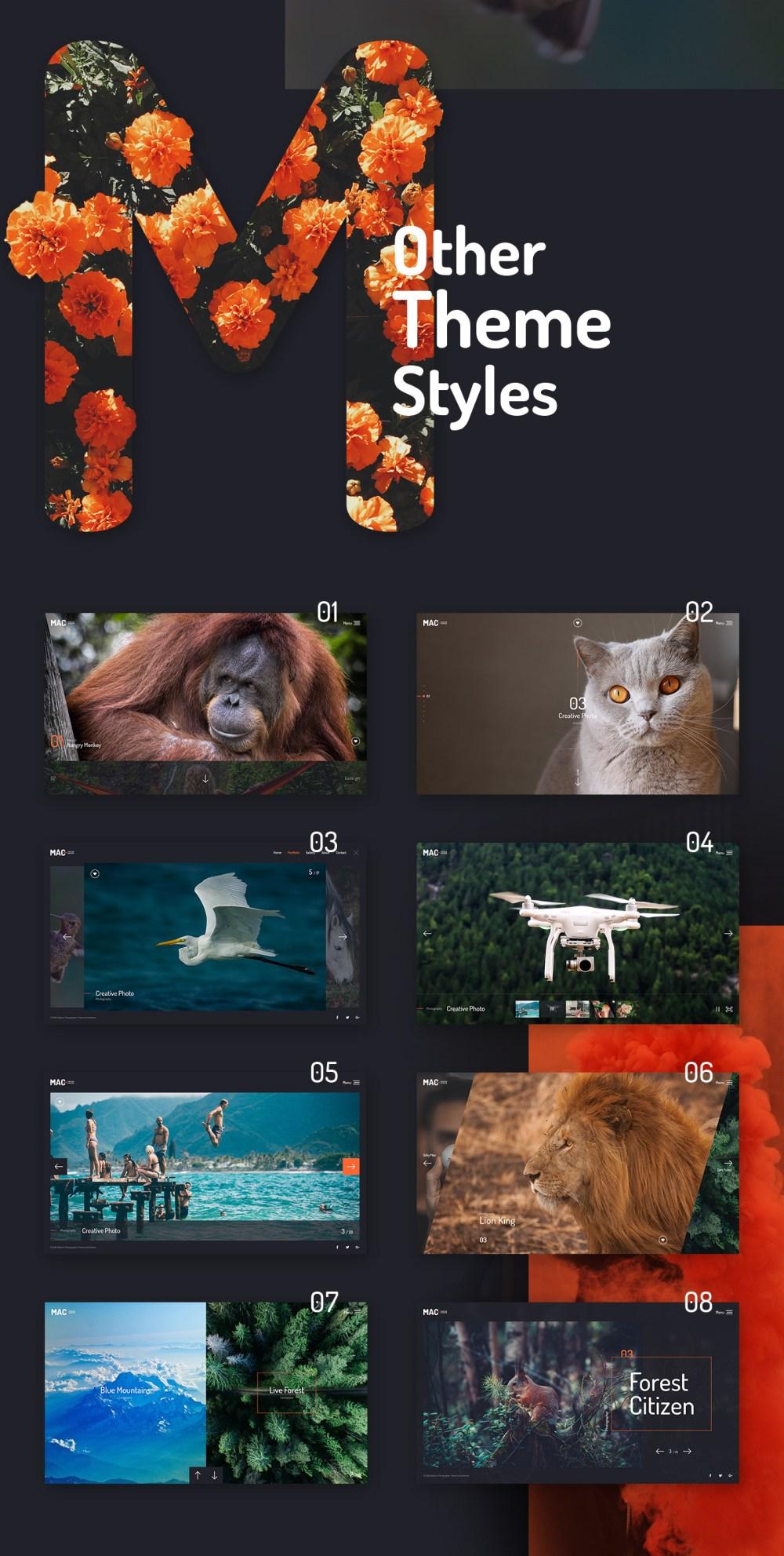 摄影网站网页设计