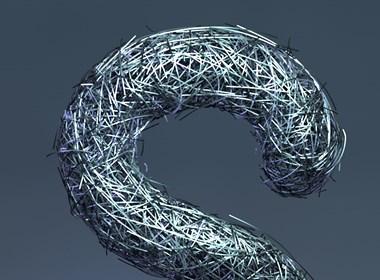 C4D-26个字母的3D表现