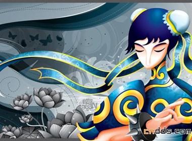 马来西亚Sean Lee漂亮的中国风插画