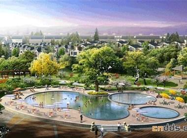 城市别墅景观规划效果图