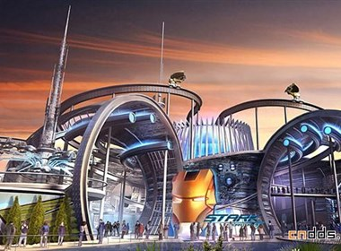 迪拜Marvel主题公园概念设计图