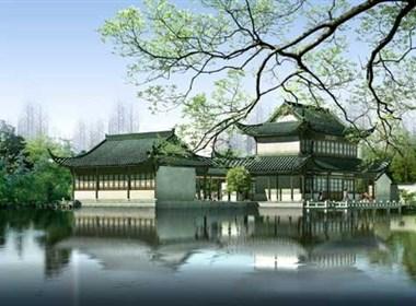古典园林建筑效果图