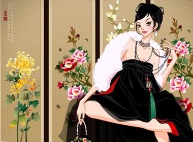 时尚女性插画作品